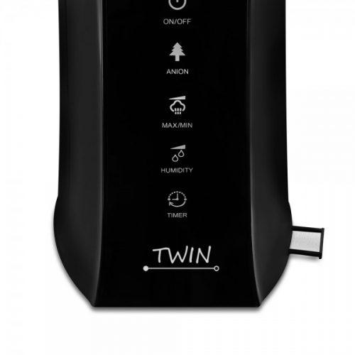 Zvlhčovač vzduchu Airbi TWIN black detail